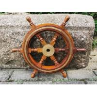 Šturvalas laivo medinis. Skersmuo 45 cm. Kaina 93