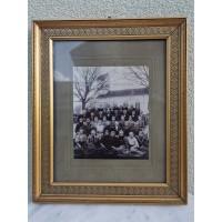 Rėmelis antikvarinis su nuotrauka. Užsienis, apie 1900 m. Kaina 38