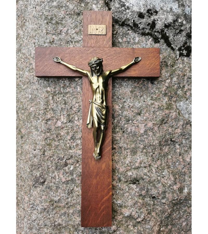 Nukryžiuotasis Kristaus figūra, Krucifiksas. Bronzinis. Kaina 58