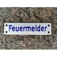 Lentelė storos skardos, emaliuota, reljefinė, antikvarinė Feuermelder (Gaisro signalizacija). Kaina 23