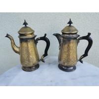 Arbatinukai, kavinukai antikvariniai, žakvariniai, sidabruoti. E.P.N.S. 2 vnt. Kaina po 58