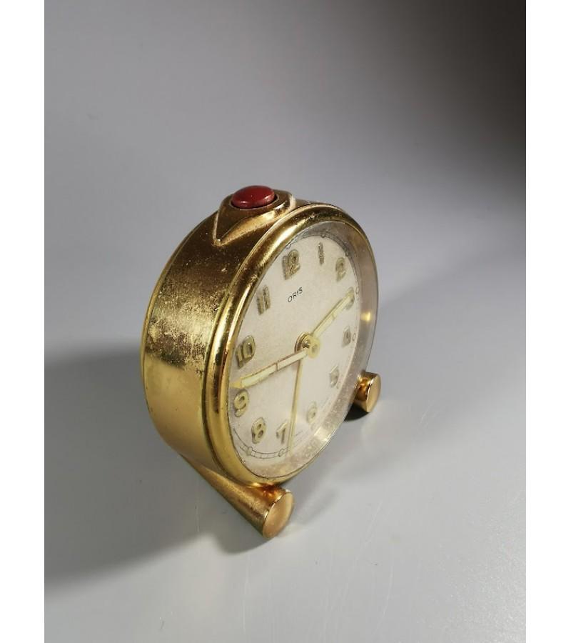 Laikrodis žadintuvas vintažinis Oris Swiss Made. Šveicarija. Veikiantis. Kaina 32