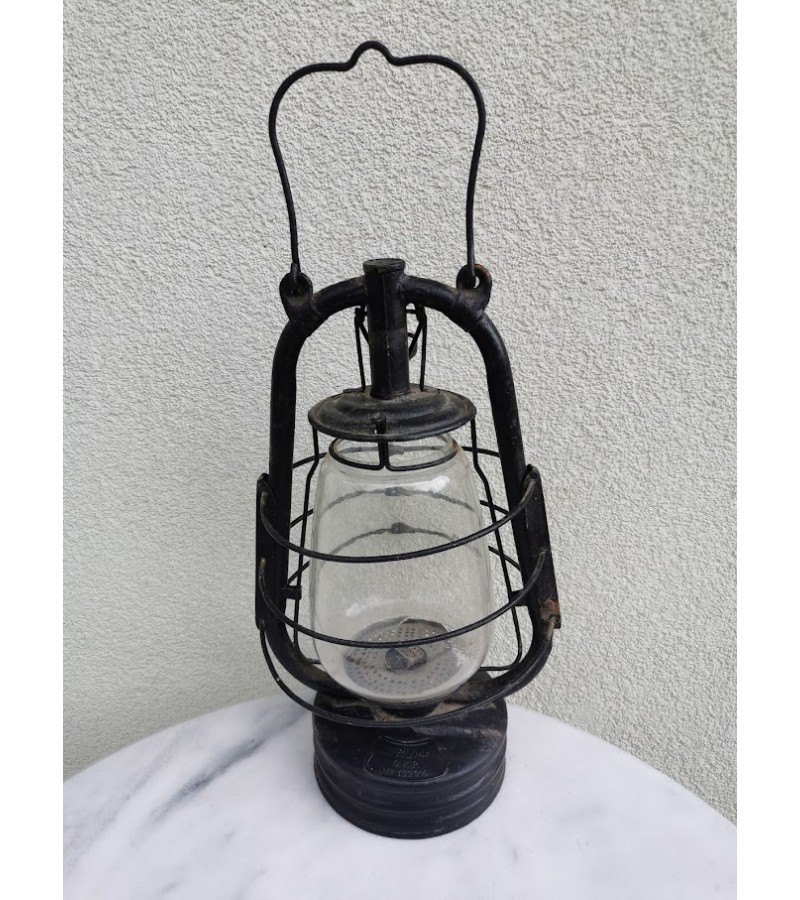 Lempa žibalinė, antikvarinė. D.R.P. Vokietija. Kaina 46