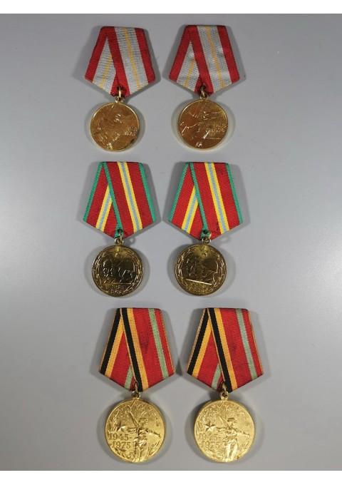 Medaliai tarybiniai, kariniai, įvairūs, sovietinių laikų. 6 vnt. Kaina po 11