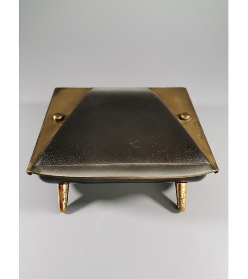 Peleninė, dėžutė metalinė Mid-century modern stiliaus. Vokietija. Kaina 23