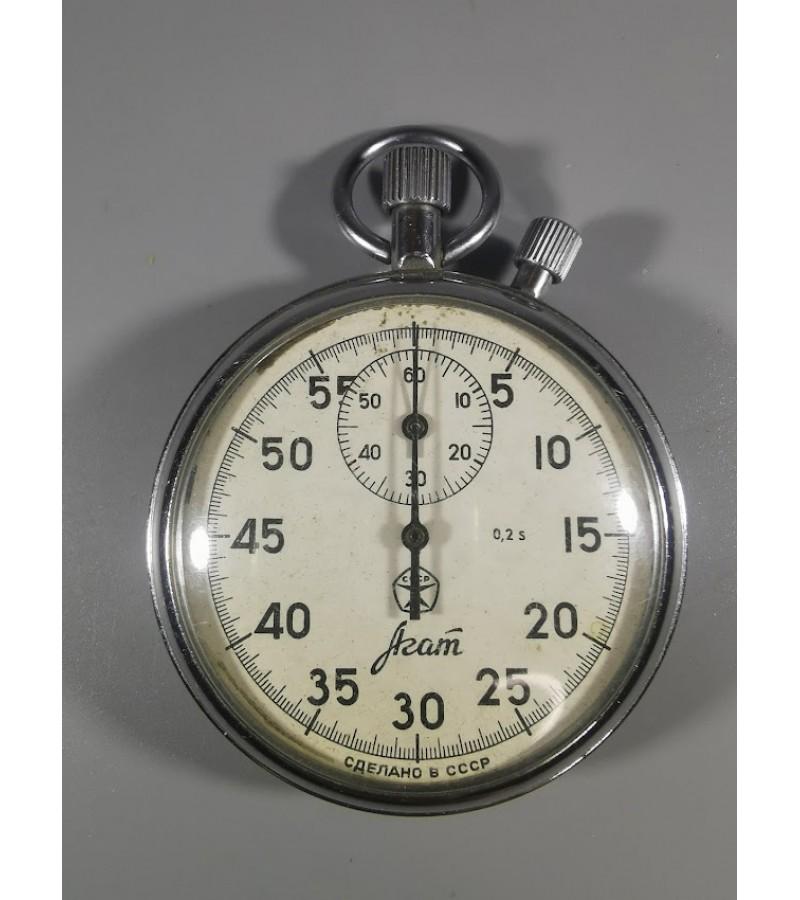 Chronometras, sekundometras mechaninis, sportinis, tarybinis. Neveikiantis. Kaina 13