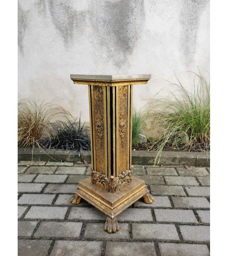Stalelis, stovelis, kolona marmurinis. Marmuras, medis, puošta bronzuotu gipsu. Kaina 137