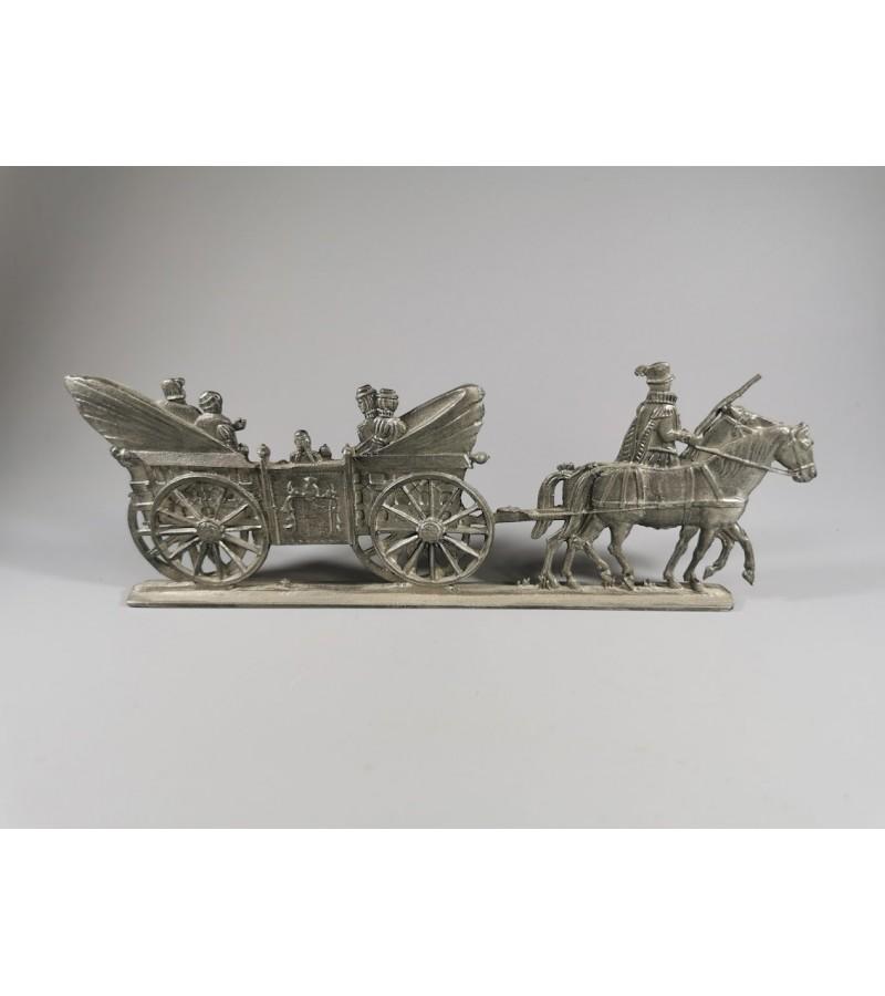 Alavinė figūrėlė, kolekcinė, antikvarinė. Išlikusi etiketė: Vogel Rein Zinn. Vokietija. Kaina 32