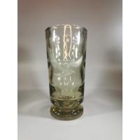 Vaza storo stiklo su paukščiu, Art Deco stiliaus, antikvarinė. Kaina 26