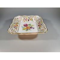 Lėkštutė porcelianinė, keturkampė. Shumann Bavaria. Vokietija. Kaina 13
