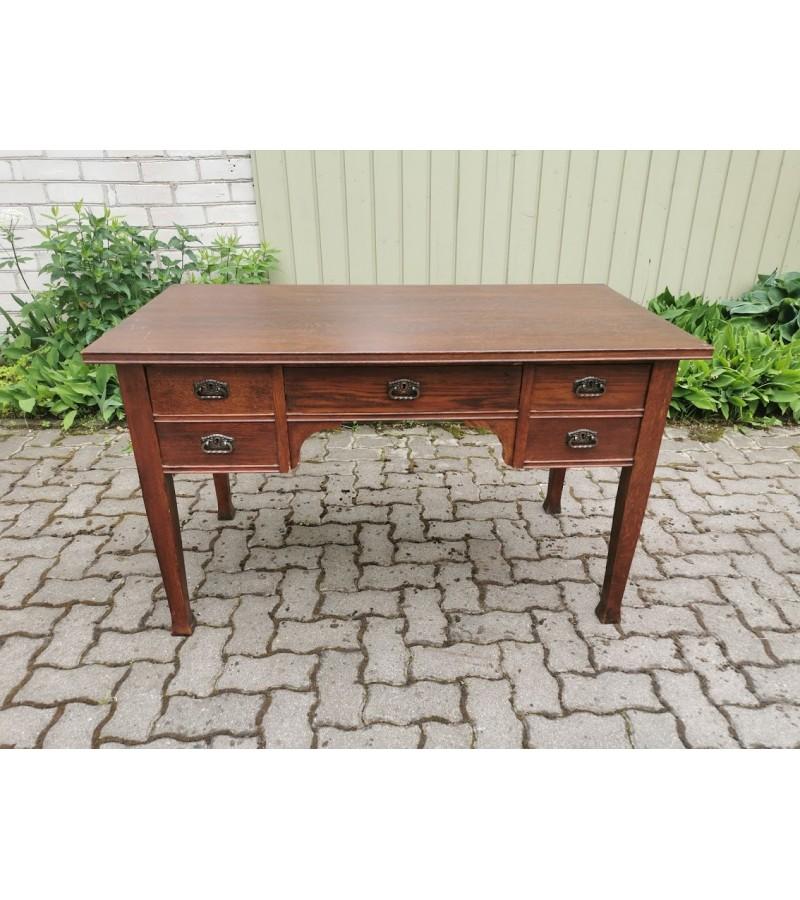 Rašomasis stalas Jugend stiliaus, antikvarinis, medžio masyvo. Tvirtas. Kaina 388