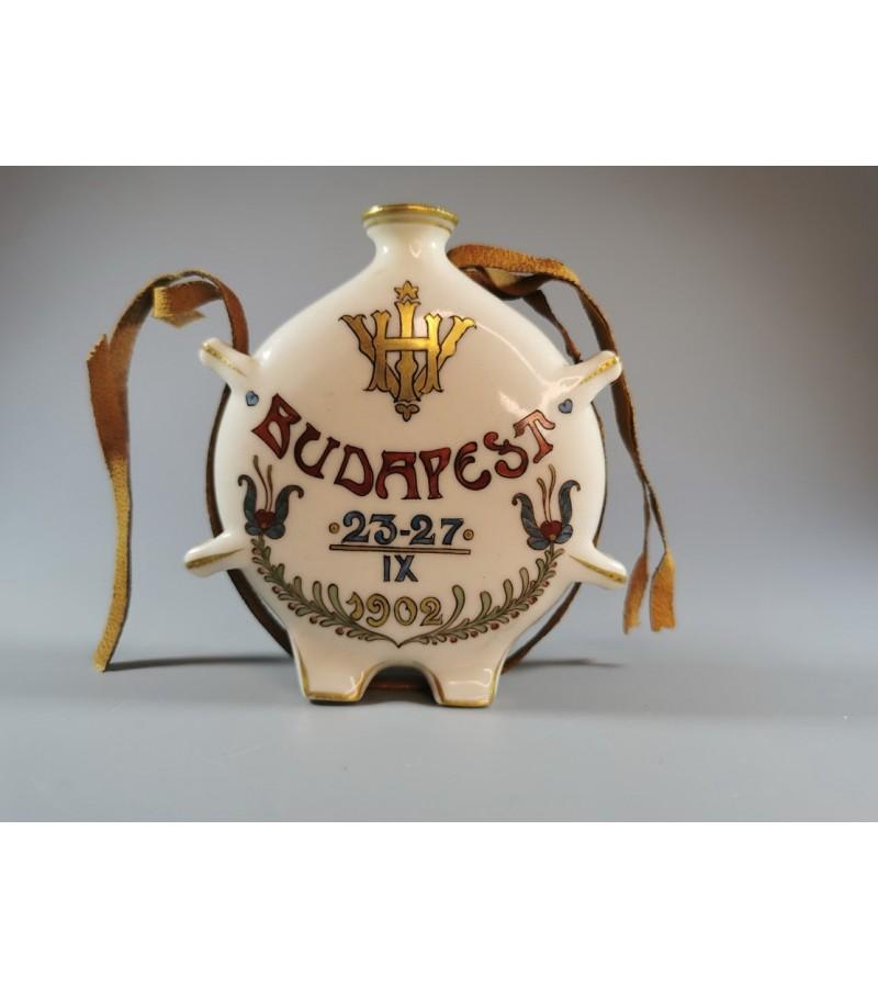 Buteliukas, gertuvė porcelianinė, maža, antikvarinė. 1902 m. Budapest. Kaina 28