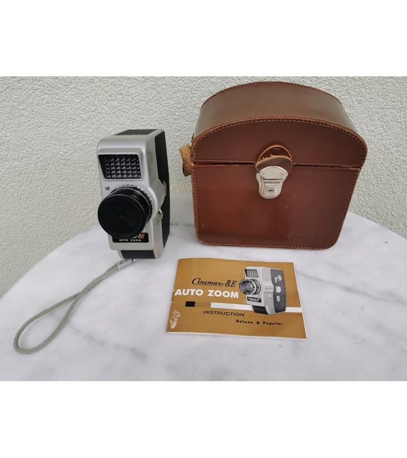 Foto kamera Cinemax 8E Auto Zoom 8MM Movie Camera originaliame dėkle su intrukcija. Apie 1960 m. Kaina 53