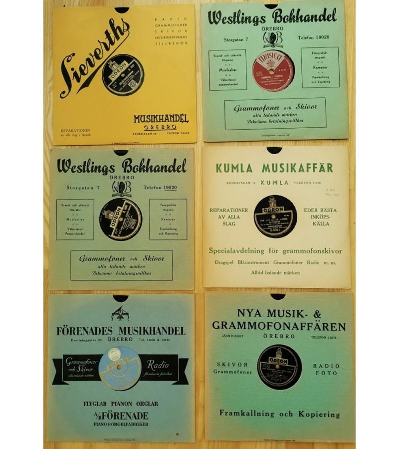 Plokštelės antikvarinės, tarpukario laikų gramofonui, patefonui. Kaina po 8