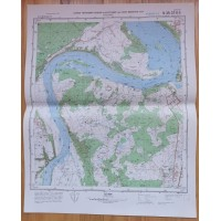 Karinis slaptas topografinis žemėlapis, KRUONIS. Originalas. Kaina 23