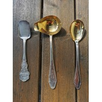 Stalo įrankiai antikvariniai, sidabruoti. Kaina po 4