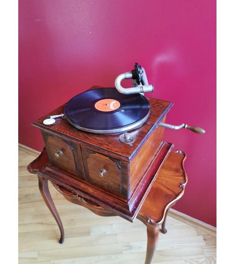 Gramofonas, patefonas antikvarinis Hymnophone. Swiss Made. Veikiantis. Kaina 487