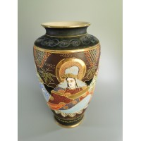 Vaza Satsuma porcelianinė, japoniška, antikvarinė, Kaina 53
