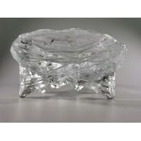 Vaza, saldaininė storo stiklo, vintažinė. Kaina 18