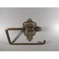 Tualetinio popieriaus laikiklis bronzinis, antikvarinio stiliaus. Italija. Kaina 42