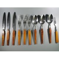Stalo įrankių rinkinys bakelitinėmis rankenomis. Acadia Made in Canada. 10 vnt. Kaina 53 už visus.