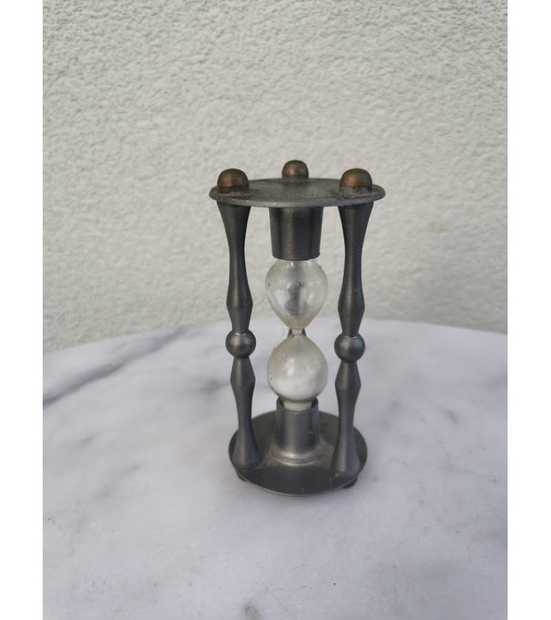 Smėlio laikrodis alavinis, antikvarinis. Fein Zinn. Vokietija. Kaina 42