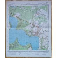 Karinis slaptas topografinis žemėlapis, RUMŠIŠKĖS. Originalas. Kaina 23