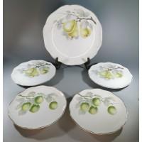 Lėkštės antikvarinės porcelianinės R.C. (Rosenthal) Kronach-Bavaria Chrysantheme. 1901-1933 metų laikotarpio. Kaina 63 už visas.