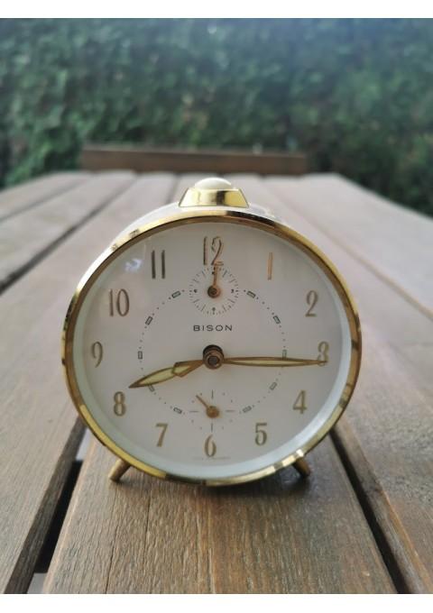 Laikrodis, žadintuvas vintažinis. Bison. Made in Germany. Veikiantis. Kaina 33