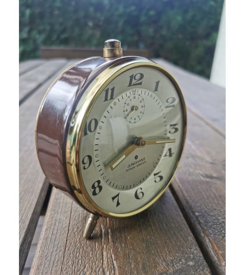 Laikrodis, žadintuvas vintažinis. Junghans. Trivox-silentic. Made in Germany. Veikiantis. Kaina 53