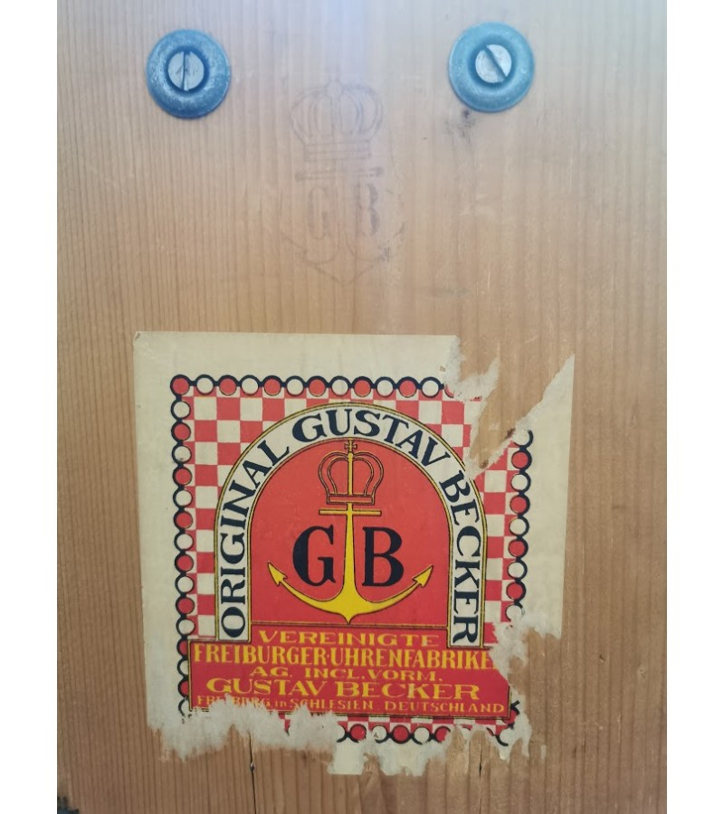 Laikrodis Gustav Becker antikvarinis, sieninis, pakabinamas. Veikiantis. Kaina 187