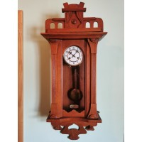 Laikrodis Junghans, glazūruotu ciferblatu, secesijos stiliaus, antikvarinis. Veikiantis. Kaina 227