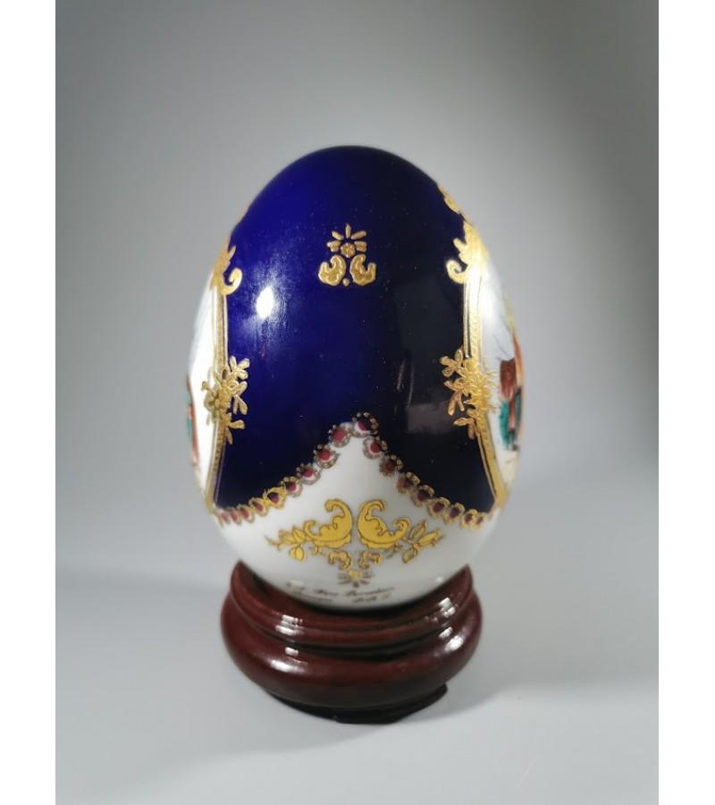 Kiaušinis porcelianinis L.F. Fine Porcelain Limoges P.R.C. reprodukcija, 1970 m. Kaina 42
