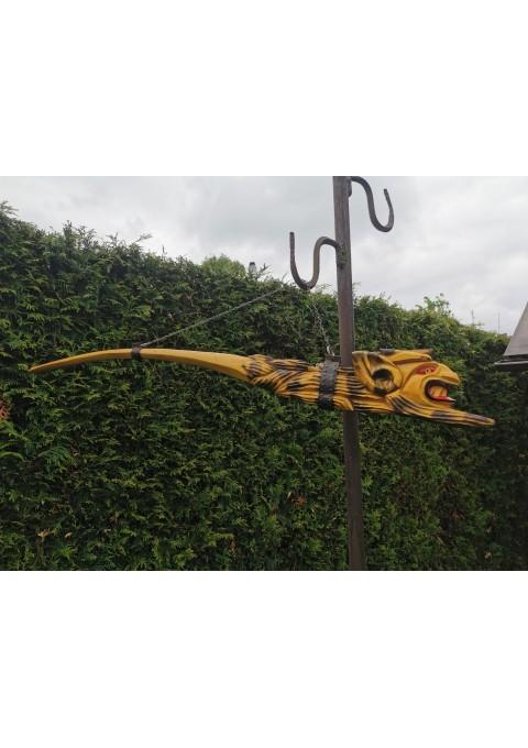 Pypkė - velnias, drožtinė, 110 cm. ilgio. Kaina 53