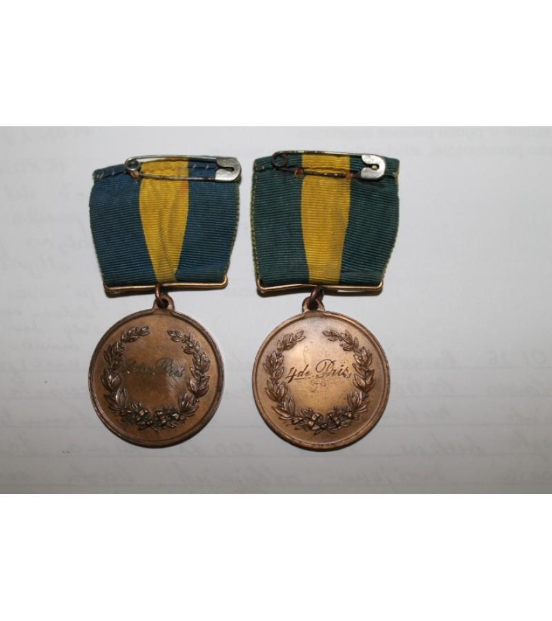 Medaliai švediški antikvariniai. 1902 m. Kaina po 13 Eur.