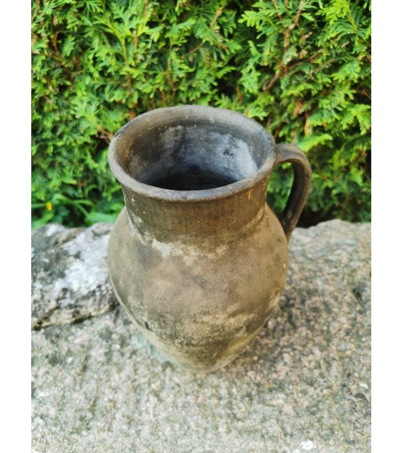 Ąsotis molinis, juodo molio, antikvarinis. Kaina 43