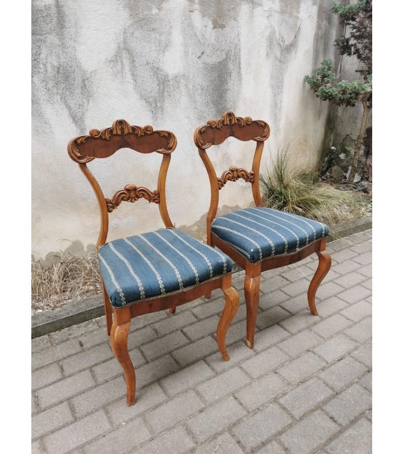 Kėdės antikvarinės, neorokoko stiliaus. 2 vnt. Kaina po 76