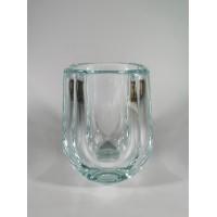 Vaza storo presuoto stiklo, Mid-century modern stiliaus. Autorinė. Svoris 1,2 kg. Kaina 33
