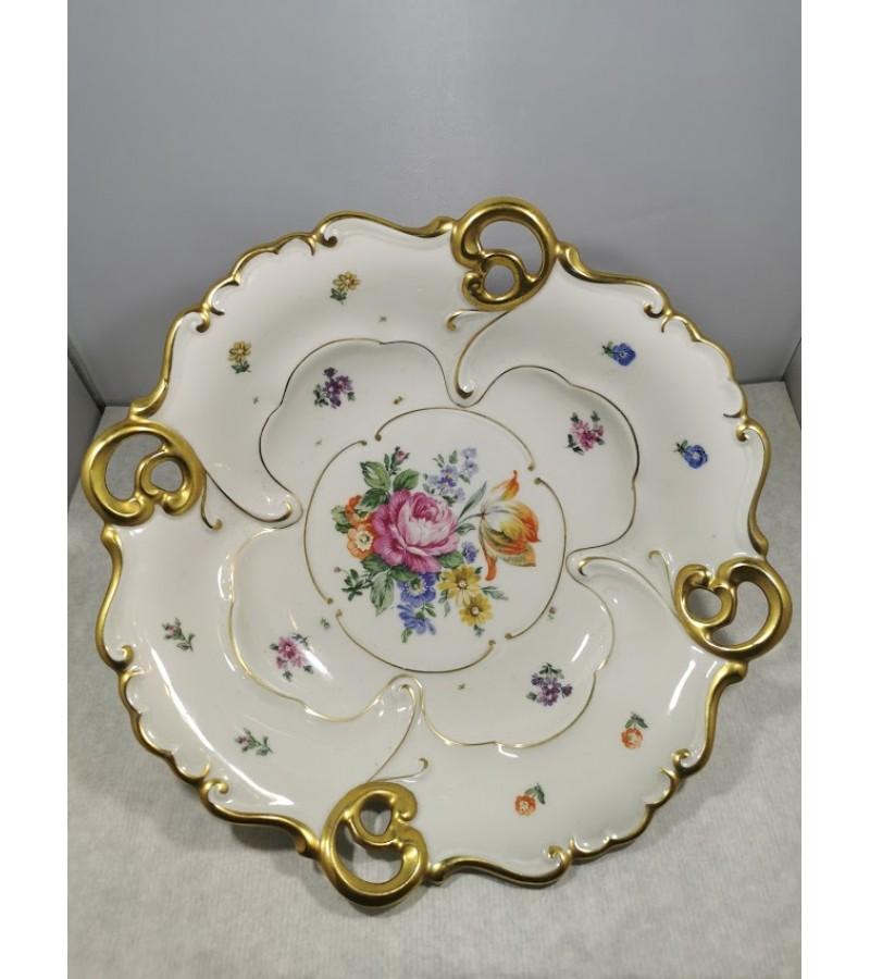 Indas, dubuo, sausaininė, porcelianinė, antikvarinė ILMENAU. Made in Germany. 1934-1949 m. Kaina 82