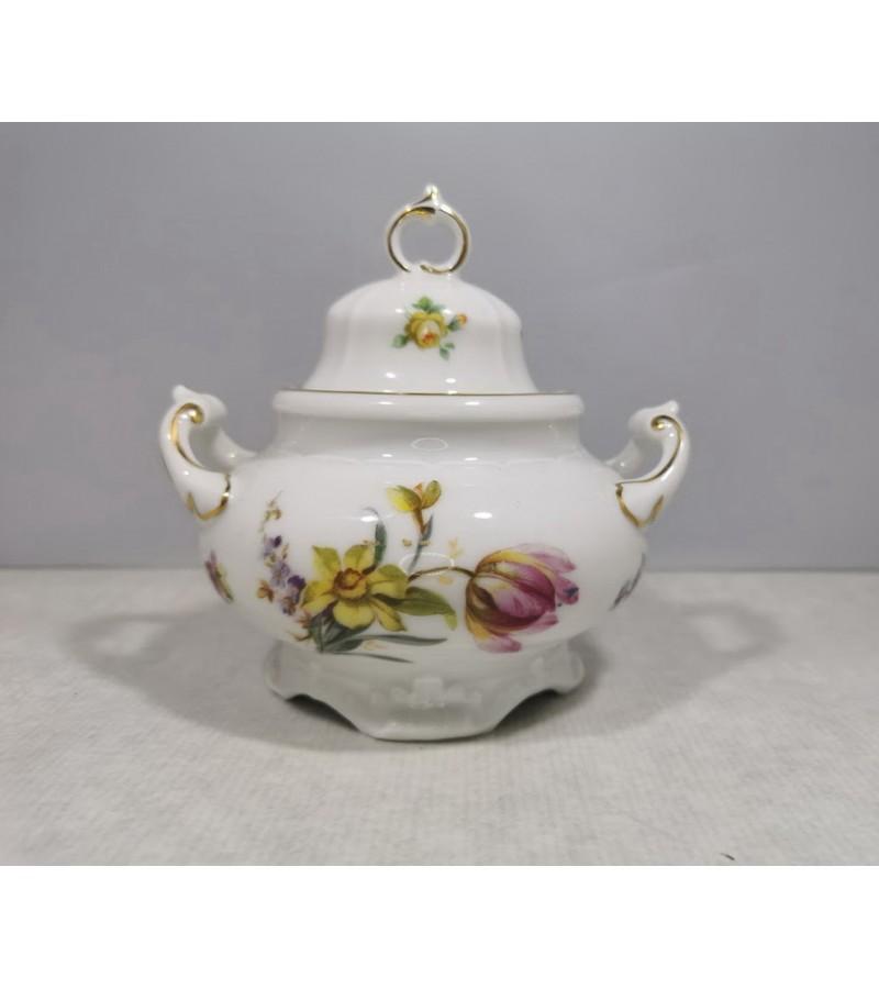 Cukrinė porcelianinė, antikvarinė. PT Bavaria Tirschenreuth. Kaina 17
