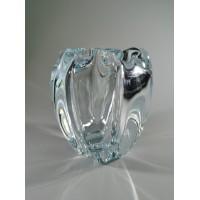 Vaza storo presuoto stiklo, Mid-century modern stiliaus. Autorinė. Svoris 1,1 kg. Kaina 38