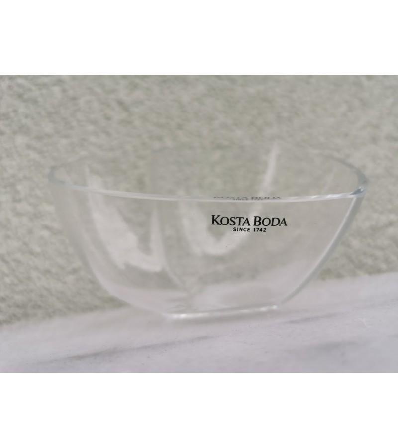 Vazelė, saldaininė stiklinė Kosta Boda, autorinė. Kaina 13