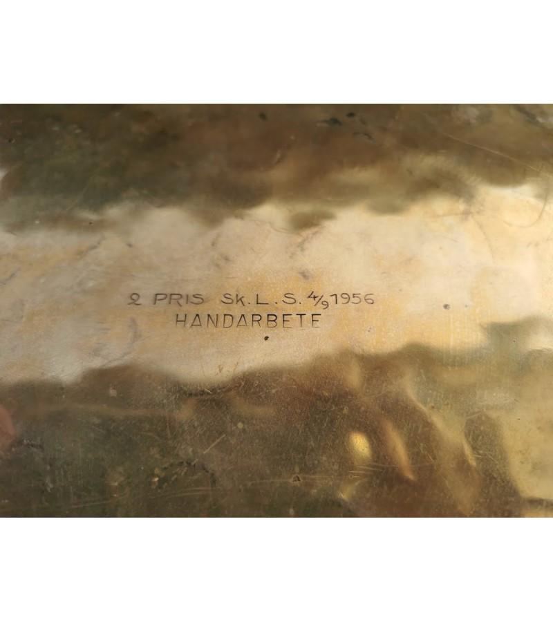 Padėklas bronzinis. 1956 m. Kaina 38
