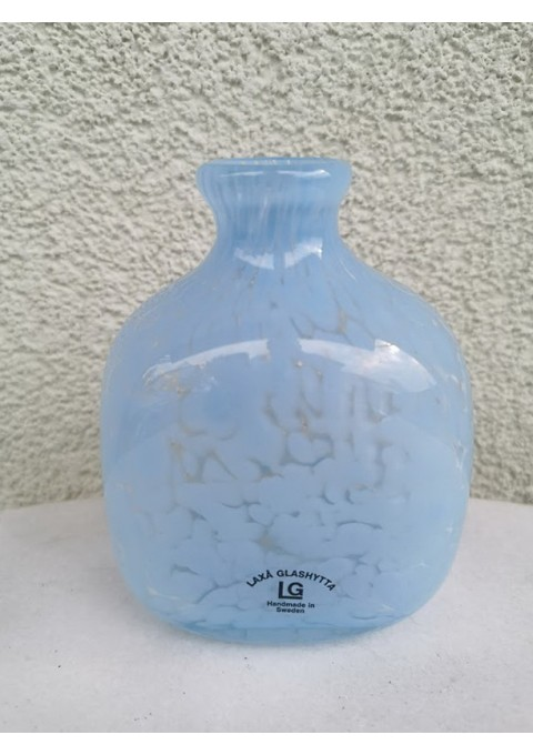 Vazelė spalvoto stiklo kolekcinė Laxa Glashytta Handmade in Sweden. Kaina 18