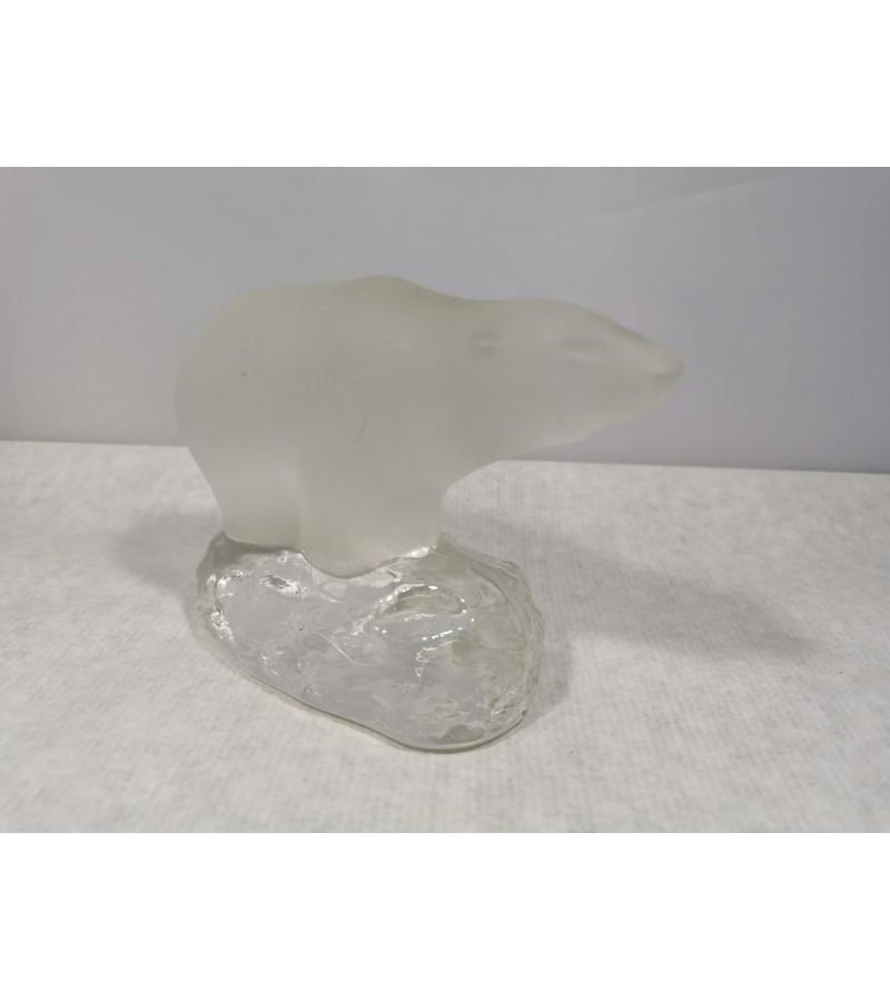 Statulėlė Meška, Lokys kolekcinė, grūdinto stiklo. Kaina 27