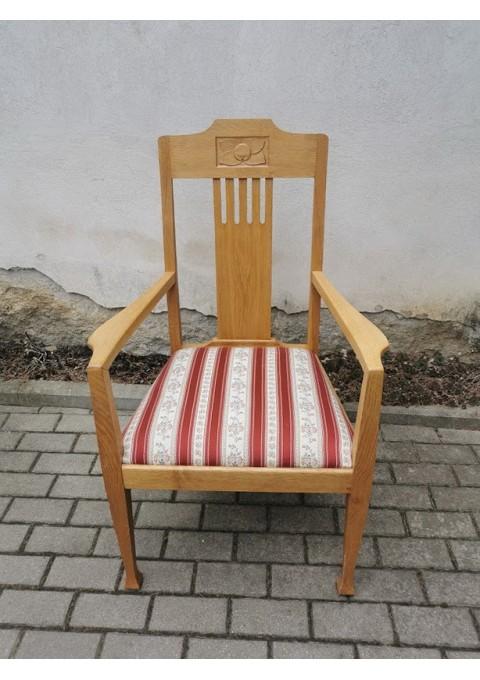 Krėslas Jugendstil, antikvarinis, restauruotas. Kaina 217