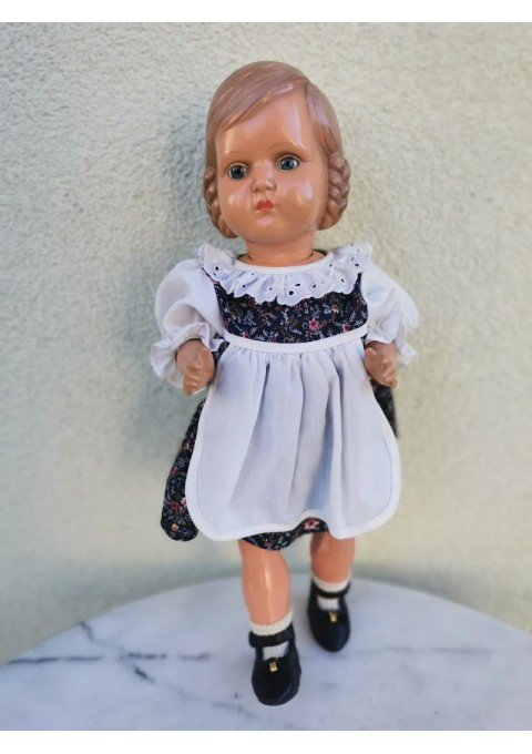 Lėlė antikvarinė, kolekcinė. Vokietija, Cellba Celluloid Warenfabrik or Schoberl & Becker doll mark. Kaina 87
