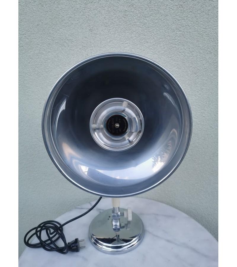 Lempa šildymo, vokiška, veikianti. Mid Century Modern German Heat Lamp. Kurt Rosenthal Fabrik elektromed. Apparate Furth/ Bay. Kaina 58