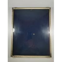 Rėmelis metalinis išgaubtu stiklu, antikvarinis. Kaina 32