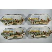 Peleninės porcelianinės, antikvarinės C P. Limoges. 4 vnt. Kaina po 16